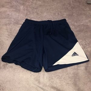 Adidas Blue and White Athletic Shorts